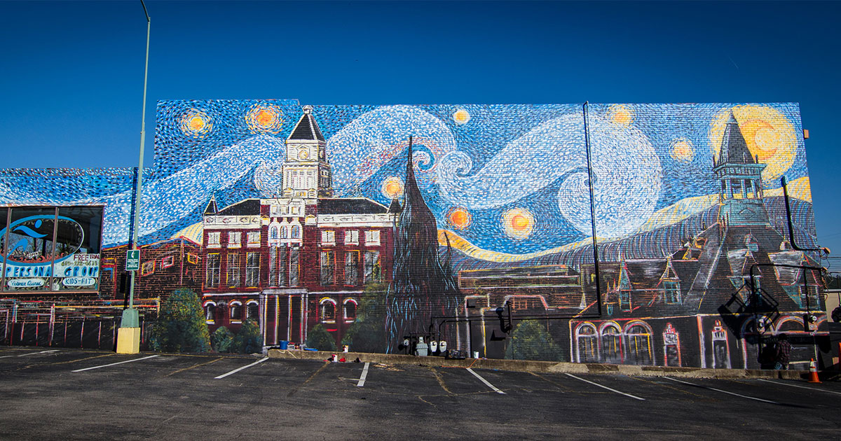 Starry-Eyed for Clarksville's Public Art Trail